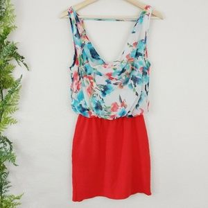 🌳 Zara W&B Dress Two Piece Floral Print Sheer M